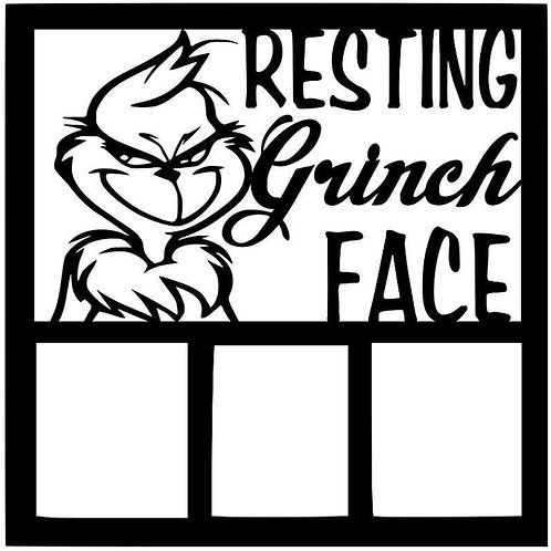 Resting Grinch Face Scrapbook Overlay
