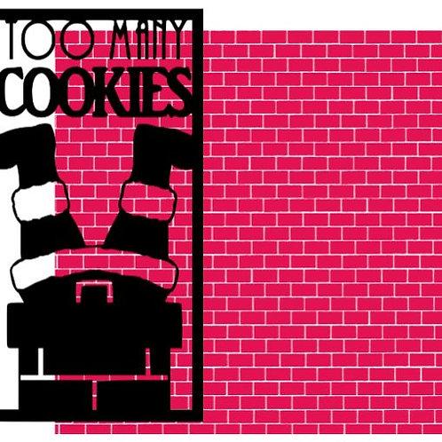 Too Many Cookies Vertical Scrapbook Title