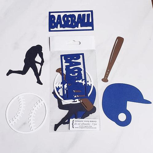 Baseball Die Cut Silhouette Mini Set