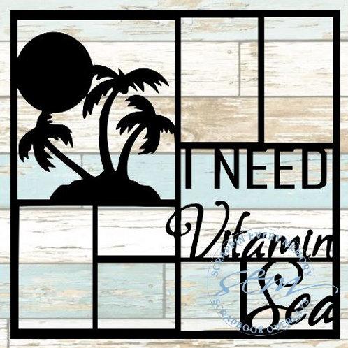 I Need Vitamin Sea Scrapbook Overlay