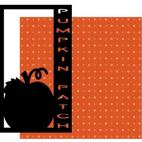 Pumpkin Patch Vertical Scrapbook Title