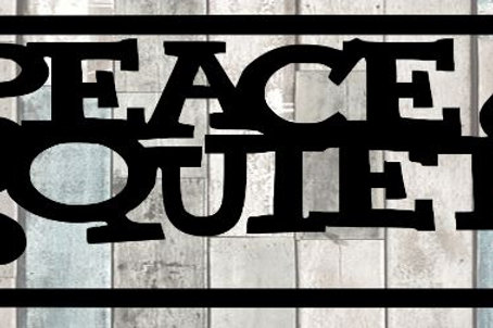 Peace And Quiet Scrapbook Title