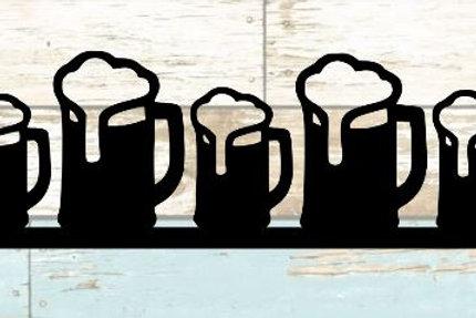 Beer Mugs Scrapbook Border