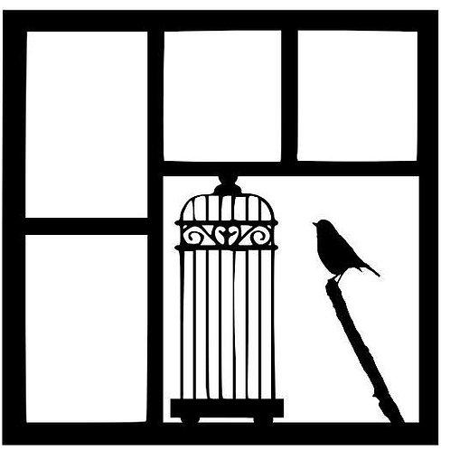 Birdcage Scrapbook Overlay