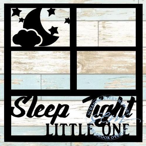Sleep Tight Little One Scrapbook Overlay