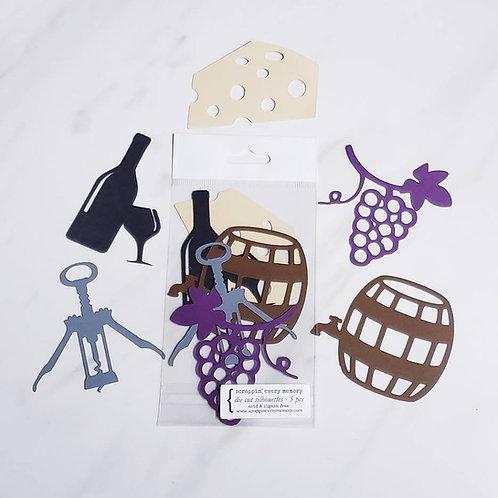 Wine Theme Die Cut Silhouette Mini Set