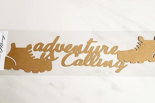 Adventure Is Calling Scrapbook Deluxe Die Cut