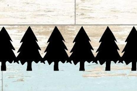 Pine Trees Scrapbook Border