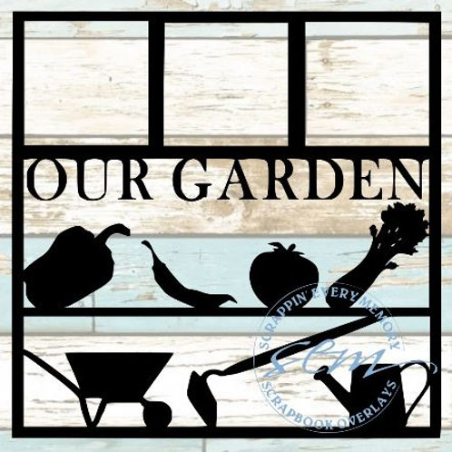 Our Garden Scrapbook Overlay