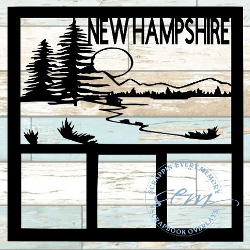 New Hampshire Scrapbook Overlay