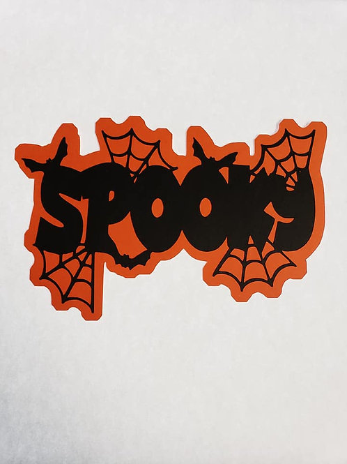 Spooky Paper Piecing Die Cut