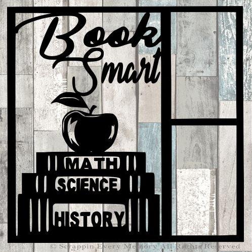 Book Smart Scrapbook Overlay
