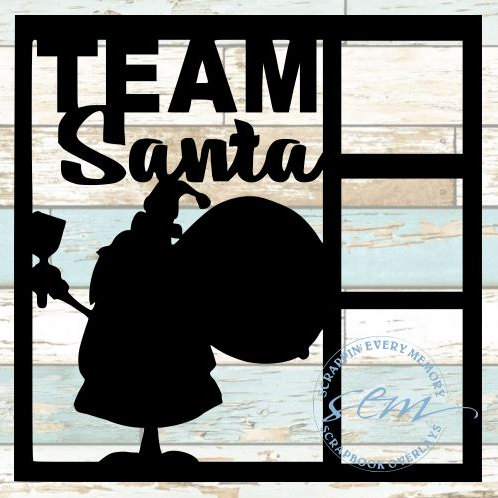 Team Santa Scrapbook Overlay