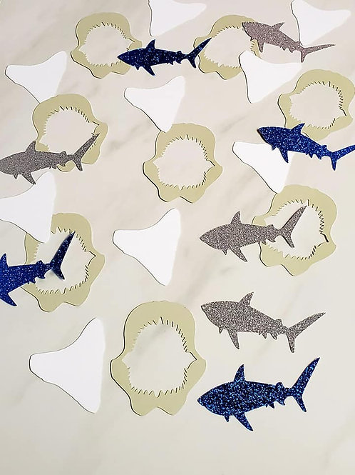 Shark Theme Scrapbook Page Confetti