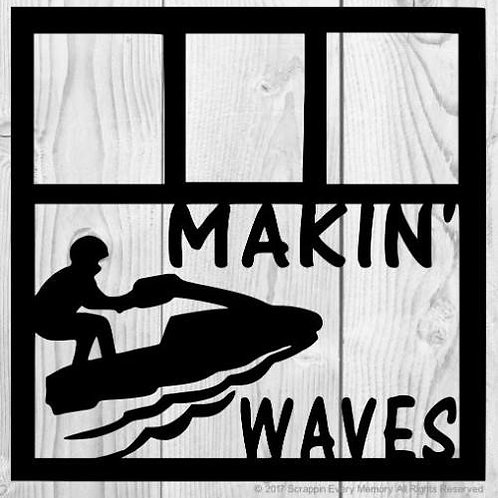 Makin Waves Scrapbook Overlay