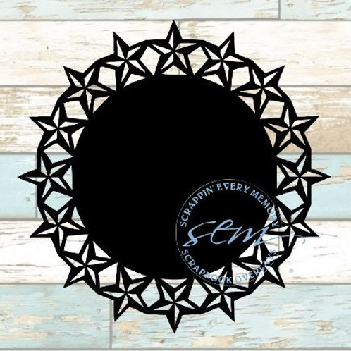 Star Circle Scrapbook Overlay