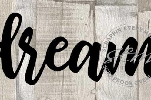 Dream Scrapbook Page Script Single