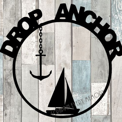Drop Anchor Scrapbook Overlay