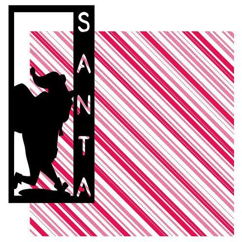 Santa Vertical Scrapbook Title