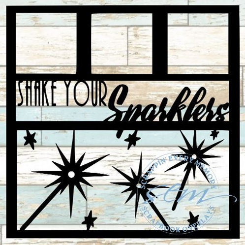 Shake Your Sparklers Scrapbook Overlay