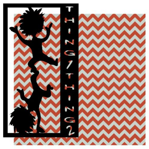 Thing 1 Thing 2 Vertical Scrapbook Title