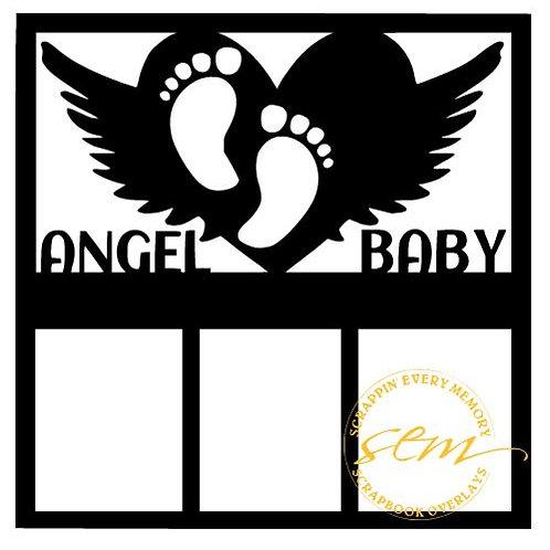 Angel Baby Scrapbook Overlay