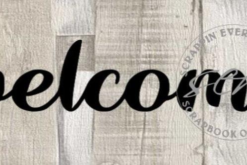 Welcome Scrapbook Page Script Single