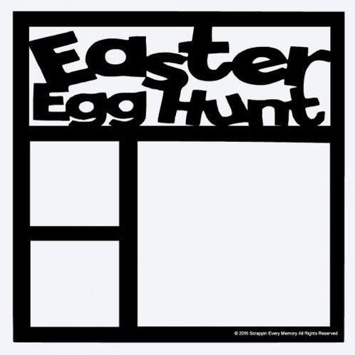 Easter Egg Hunt Scrapbook Overlay