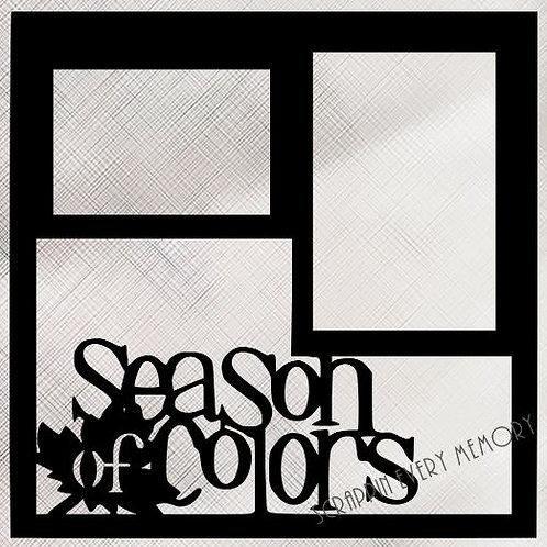 Season Of Colors Scrapbook Overlay