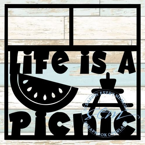 Life Is A Picnic Scrapbook Overlay