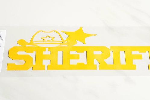 Sheriff Scrapbook Deluxe Die Cut