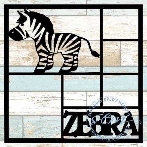 Zebra Scrapbook Overlay