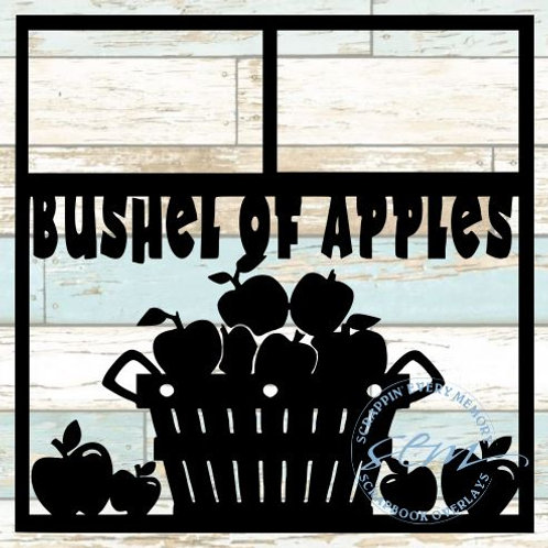 Bushel Of Apples Scrapbook Overlay