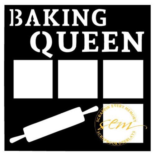 Baking Queen Scrapbook Overlay