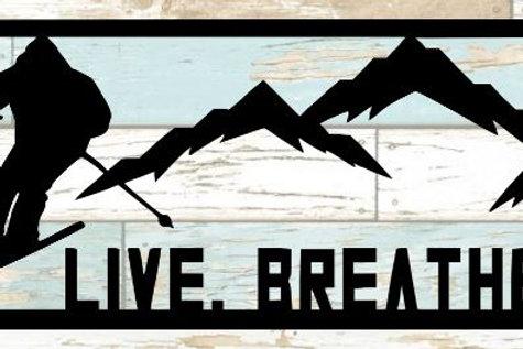 Live Breathe Ski Scrapbook Title
