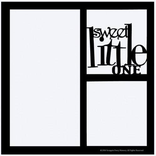 Sweet Little One Scrapbook Overlay