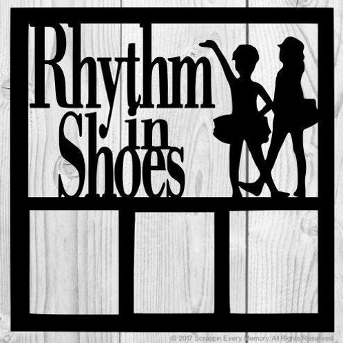 Rhythm In Shoes Scrapbook Overlay