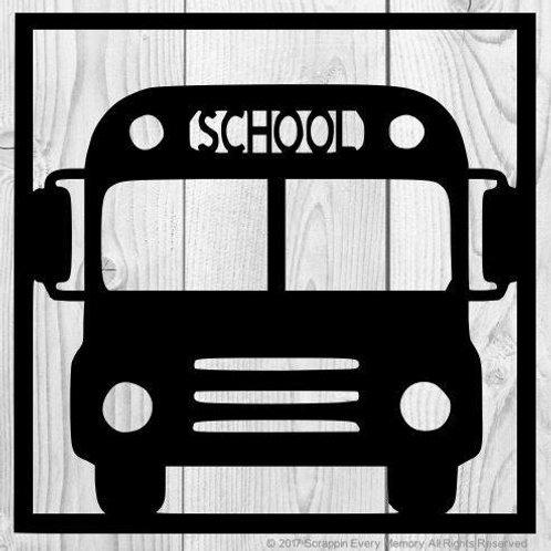 School Bus Scrapbook Overlay