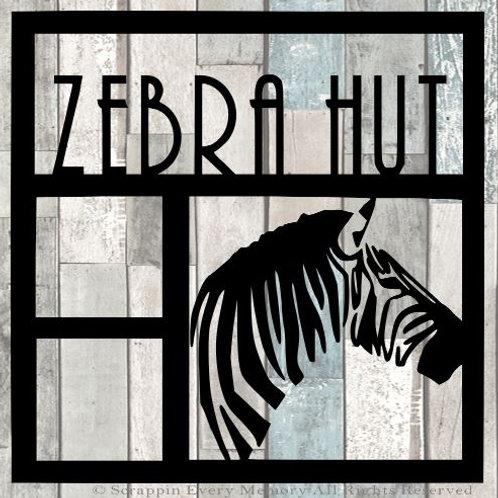 Zebra Hut Scrapbook Overlay