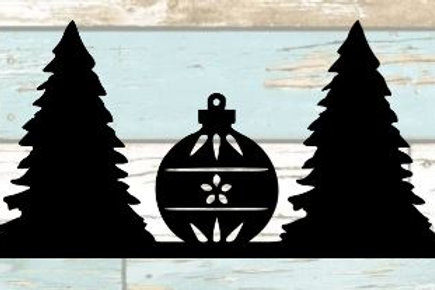 Christmas Trees & Ornaments Scrapbook Border