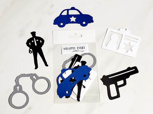 Policeman Die Cut Silhouette Mini Set