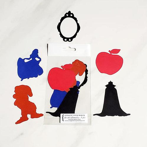 Snow White Theme Die Cut Silhouette Mini Set