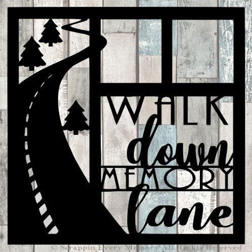 Walk Down Memory Lane Scrapbook Overlay