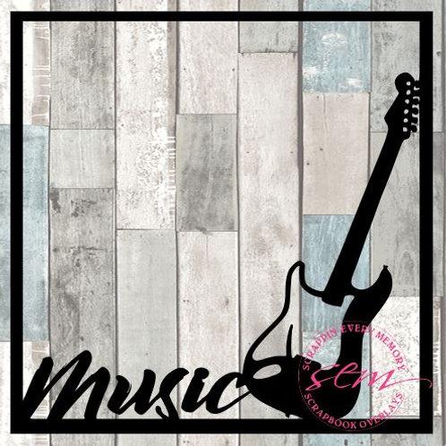 Music Guitar Scrapbook Overlay