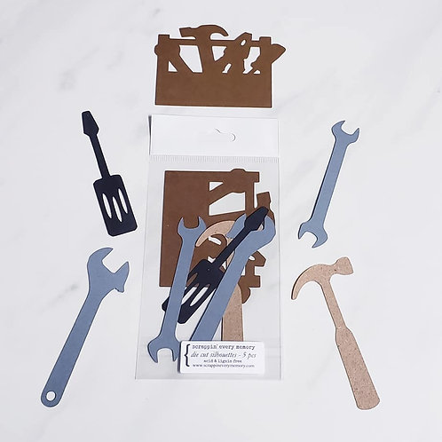 Tools Die Cut Silhouette Mini Set