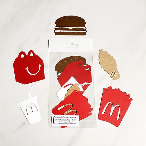 McDonald's Theme Die Cut Silhouette Mini Set