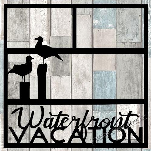 Waterfront Vacation Scrapbook Overlay