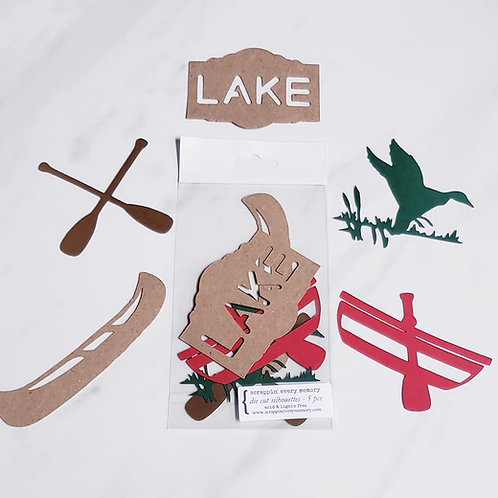 Lake Theme Die Cut Silhouette Mini Set