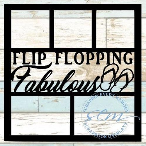 Flip Flopping Fabulous Scrapbook Overlay