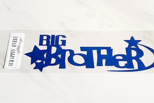 Big Brother Scrapbook Deluxe Die Cut